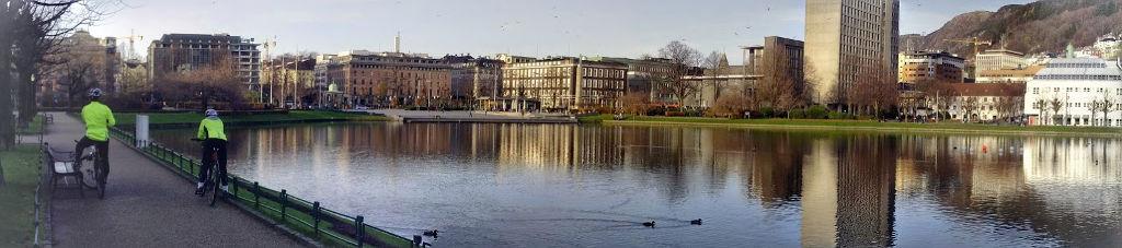 Lille Lungegårdsvannet i Bergen.