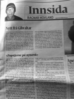 Faksimile frå Dag Og Tid 14.06.2013.