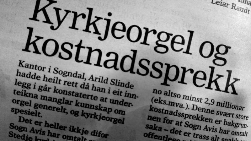 Faksimile Sogn Avis 3. mars 2015.