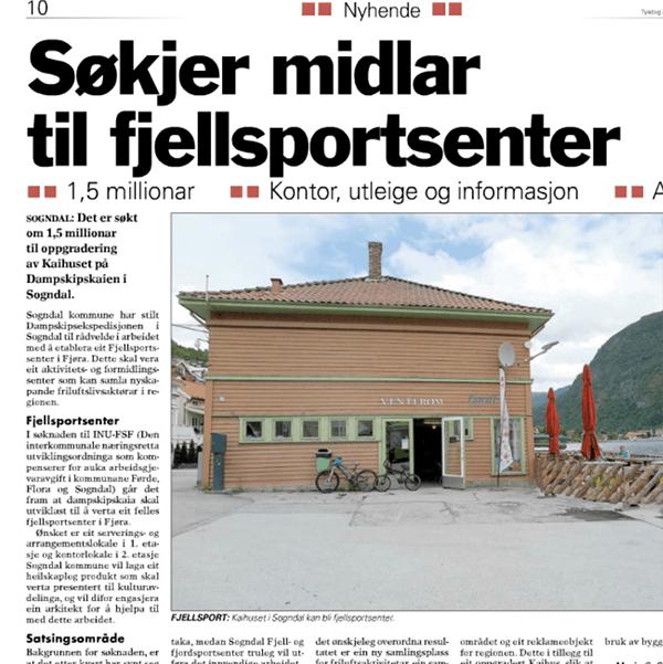Faksimile Sogn Avis 28. juni 2016.