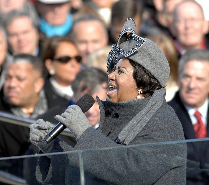 Aretha Franklin song for Obama i 2009. Foto: Cecilio Ricardo, U.S. Air Force