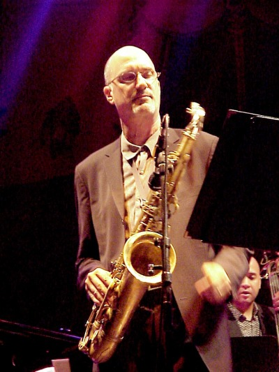 Michael Brecker i München i 2001. Foto: Sven Petersen (WikiMedia Commons)