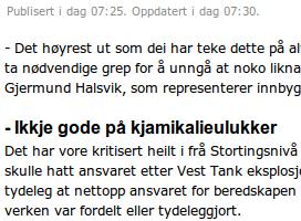 Nei, kven er gode på det? Foto: Skjermdump frå NRK Sogn og Fjordane 29.10.2010.