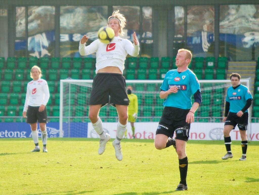 Ulrik Flo burde gjeve Sogndal 2-1-leiing mot Odd. Arkivfoto: Bjørn Erik Pedersen.