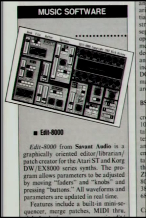 Rich Hickey's first commercial software, a patch editor.