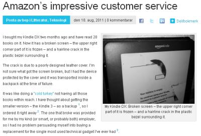 The customer service is still impressive.